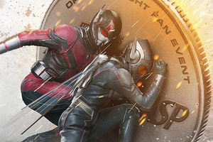 Ant Man And The Wasp Coin Poster Wallpaper