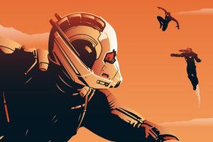 Ant Man Civil War Poster Art Wallpaper