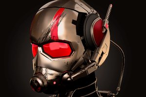 Ant Man Mask Art Wallpaper