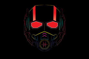Ant Man Mask Minimalism 4k Wallpaper