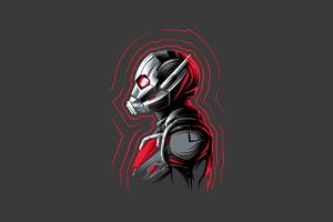 Ant Man Minimal 4k Wallpaper