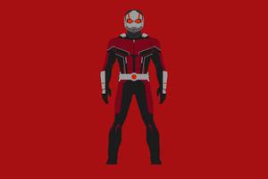 Ant Man Minimalism 4k