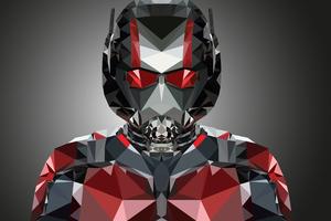 Ant Man Polygonal Portrait Illustration