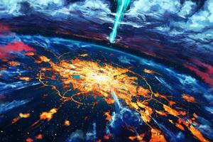 Apocalypse Cosmos Disaster Explosion World Wallpaper