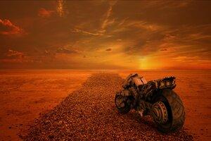 Apocalypse Scifi Bike 4k