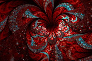 Apophysid Red Blue Chaotica Digital Art