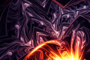 Apopysis Fractal Art Abstract 4k