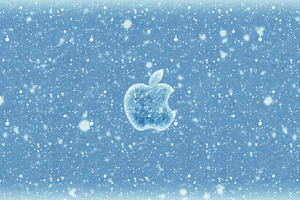 Apple Christmas Winter Logo 4k Wallpaper