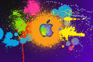 Apple Colorful Logo 4k