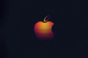 Apple Glowing Logo 4k Wallpaper