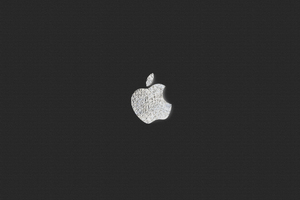 Apple Logo Bw Wallpaper