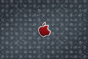 Apple Logo Christmas Celebrations 4k Wallpaper