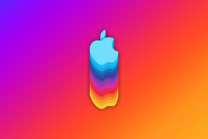 Apple Logo Material 8k Wallpaper