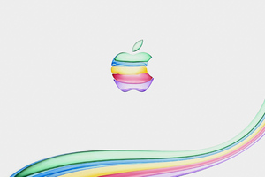 Apple New Colorful Logo 4k