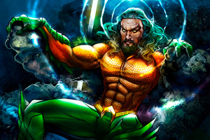 Aquaman 8k Art Wallpaper
