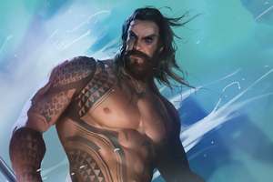 Aquaman Artwork New Wallpaper
