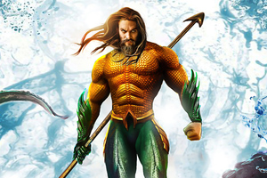 Aquaman Classic Suit 4k Wallpaper