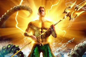 Aquaman Comic Golden Poster 4k Wallpaper