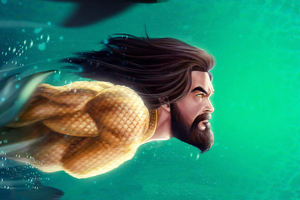Aquaman Diving Wallpaper