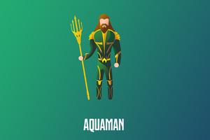 Aquaman Illustration 4k