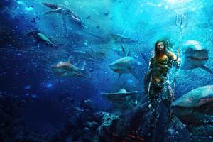 Aquaman In Ocean Wallpaper