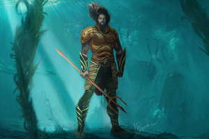 Aquaman In Water Wallpaper