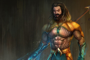 Aquaman Jason Momoa Artwork