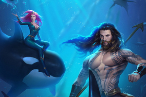 Aquaman Mera Arts Wallpaper