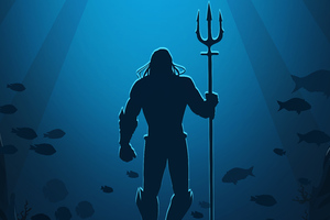 Aquaman Movie Poster Art Wallpaper