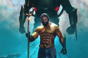 Aquaman Poster Illustration 5k Wallpaper