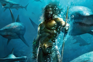 Aquaman Under Water Wallpaper