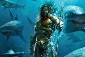 Aquaman Under Water