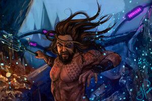 Aquaman Underwater Art Wallpaper