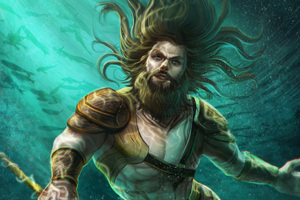 Aquaman Underwater Artwork 4k