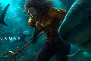 Aquaman Underwater Artwork Wallpaper