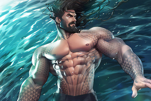 Aquaman Underwater New Art Wallpaper