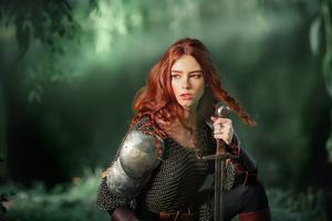 Archer Girl Red Head 4k