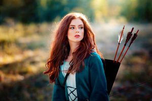 Archer Girl With Arrows In Back 4k