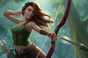 Archer Warrior Girl Long Hairs