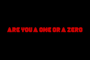 Are You A One Or A Zero Mr Robot Typography 4k Wallpaper