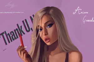 Ariana Grande Fan Art Wallpaper