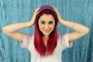 Ariana Grande Red Hairs Wallpaper