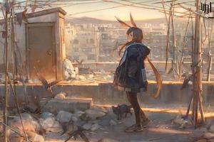 Ark Knight Anime Girl 4k Wallpaper