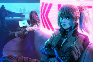 Arkadia And Astree Cyberpunk Girls 4k