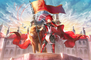Armor City Elsword Flag Knight Lion