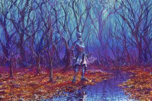 Armor Knight Fantasy 5k Wallpaper