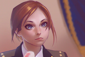 Army Girl Anime 4k