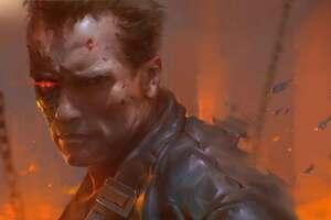 Arnold Schwarzenegger As Terminator Artwork Wallpaper
