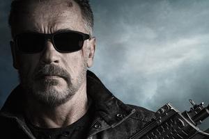 Arnold Schwarzenegger In Terminator Dark Fate 4k Wallpaper