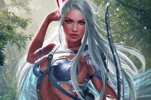 Aron Stone Warrior Girl 4k Wallpaper